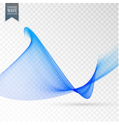 Soft smooth transparent wave background vector