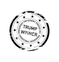 Stamp with inscription trump winner vector
