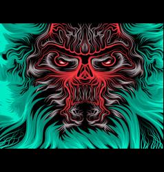 The beast scene cartoon vector