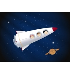 Toy rocket background vector image vector image