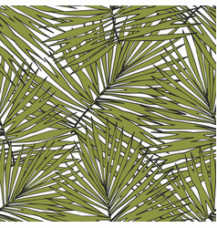 tropical leaves hand drawing seamless pattern for vector image vector image