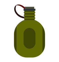 Water canteen icon flat style vector