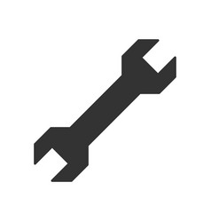 wrench black icon vector image vector image