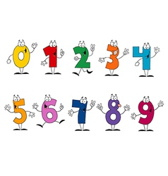 Friendly cartoon numbers set vector