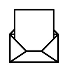 silhouette envelope opened with sheet vector image