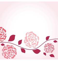 Retro card with vintage rose vector