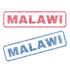Malawi textile stamps vector
