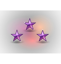 Three purple stars vector