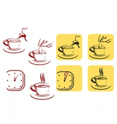 Tea preparation vector