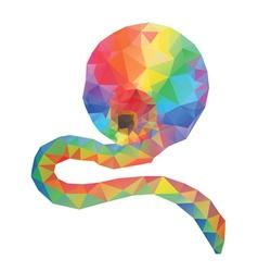Rainbow Polygonal Background vector image