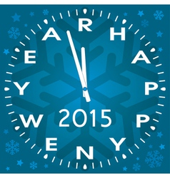 Happy new year symbol of clock vector