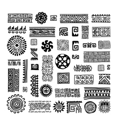 Ethnic handmade ornament for your design vector