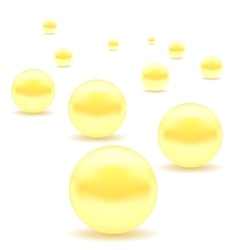 Set of yellow pearls vector