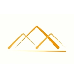 Logo design element pyramid mountain vector
