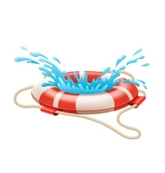 Life buoy for drowning rescue vector