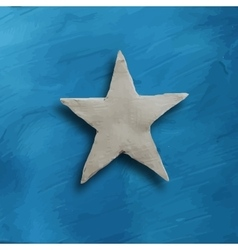 White star on blue background vector