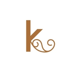 Sign the letter k vector