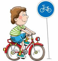 The boy on a bicycle vector