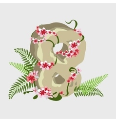 Holiday symbol eighth of march digit 8 vector