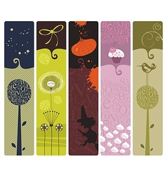 Various bookmarks vector