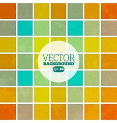 Abstract squary colorful retro background vector image vector image
