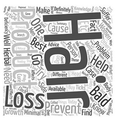 Best hair loss products text background wordcloud vector