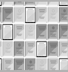 Digital library seamless pattern set of books and vector