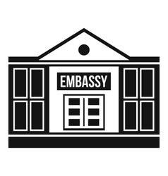 Embassy icon simple style vector
