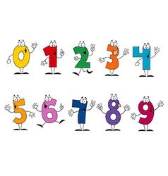 Friendly Cartoon Numbers Set vector image