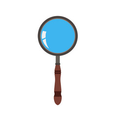 glass magnifying icon search zoom magnifier vector image vector image