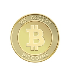 Golden Bitcoin vector image vector image
