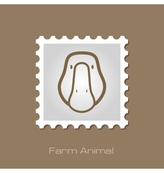 Goose stamp Animal head vector image