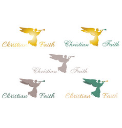 logo christian faith angel vector image vector image