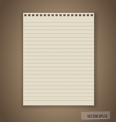 Paper ready for your text vector image vector image