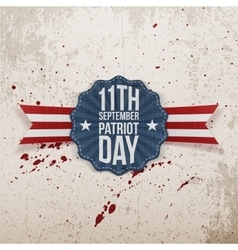 Patriot Day 11th September Tag vector image