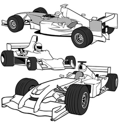 Racing cars vector