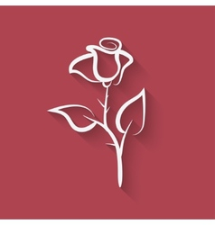 rose flower symbol vector image vector image