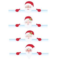 Santa Claus behind page vector image vector image