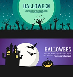 Set of halloween web banners design concepts for vector
