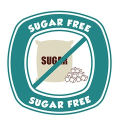 sugar free vector image
