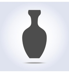 Vase icon in gray colors vector image