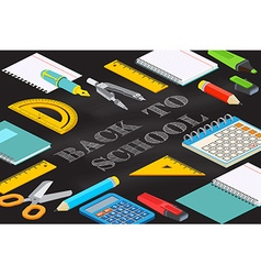 Back to school typographical background on vector