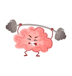 Funny concentration brain training with a barbell vector
