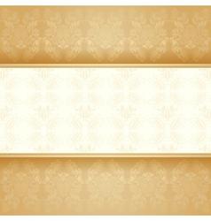 Background golden decorative vector image