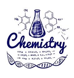 Hand drawn chemistry vector