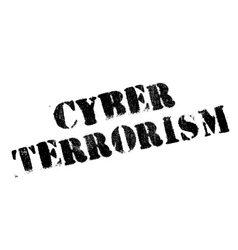 Cyber terrorism rubber stamp vector