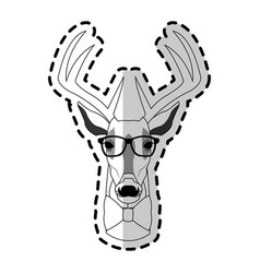 Deer or stag hipster animal icon image vector