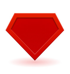 Red superhero logo template vector