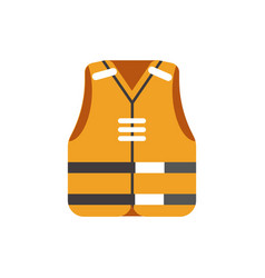 Safety orange vest protective uniform isolated on vector