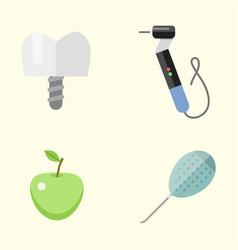 flat health care dentist medical tools medicine vector image
